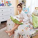 戀家小舖 / 雙人特大床包被套組  點點善-純真天賦-兩色  100%精梳棉  台灣製