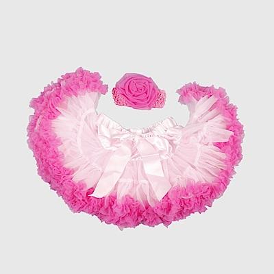 日安朵朵 女嬰童雪紡蓬蓬裙 - 櫻花