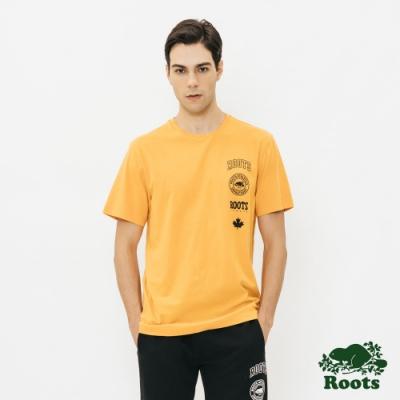 Roots 男裝-印花短袖T恤-黃