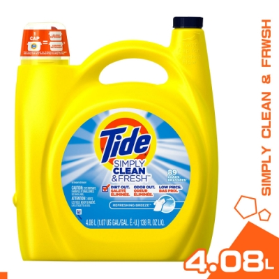 美國 TIDE CLEAN&FRESH 濃縮 洗衣精 4.08L