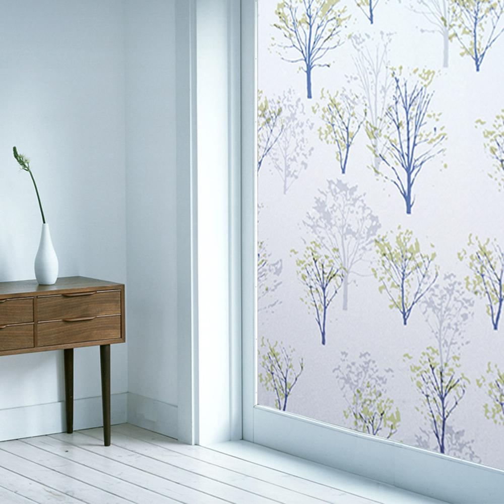 半島良品 無膠玻璃靜電貼-樹林45x200cm