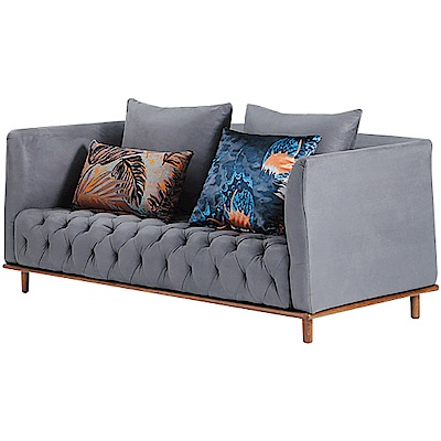 文創集 雷登英倫風科技耐磨布二人座沙發-167x87x76cm免組