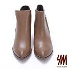 SM-素面簡約修飾短靴