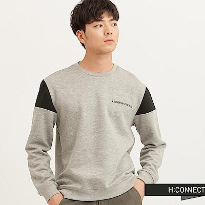 H:CONNECT 韓國品牌 男裝 - SHARKEE風格印字上衣-灰(快)