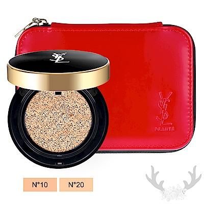 *YSL 恆久完美氣墊粉餅(14g)+化妝包