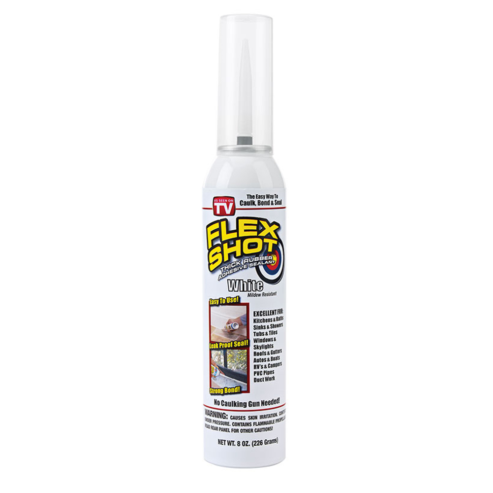美國FLEX SHOT速效填縫膠-亮白色(附噴嘴)