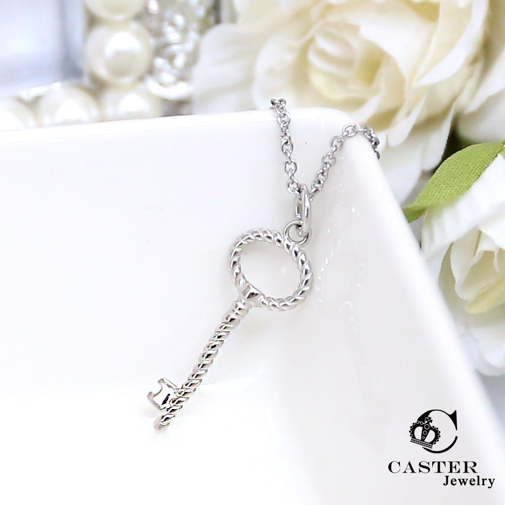 日本 凱斯特 CASTER 秘密鎖鑰 時尚銀項鍊 防抗過敏 SUS316L頂級不鏽鋼飾品