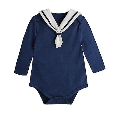 baby童衣 長袖海軍領包屁衣 82026