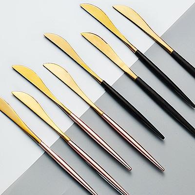 E-dot 304歐式不鏽鋼鈦金餐刀(二色選)