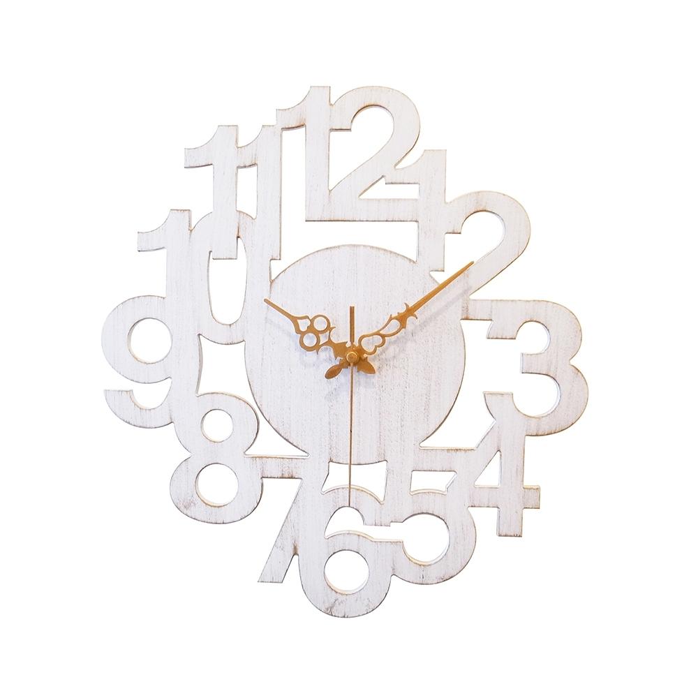 完美主義 數字設計款復古風掛鐘/時鐘/壁鐘/阿拉伯數字(2色) product image 1