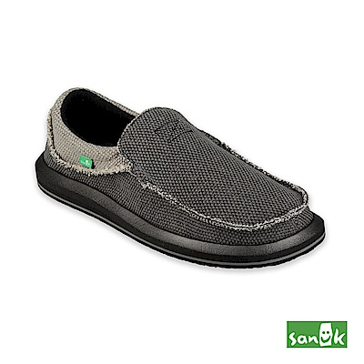 SANUK-CHIBA 寬版懶人鞋-男款(鐵灰色)