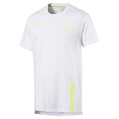 PUMA-男性訓練系列N.R.G.圖樣短袖T恤-白色-歐規