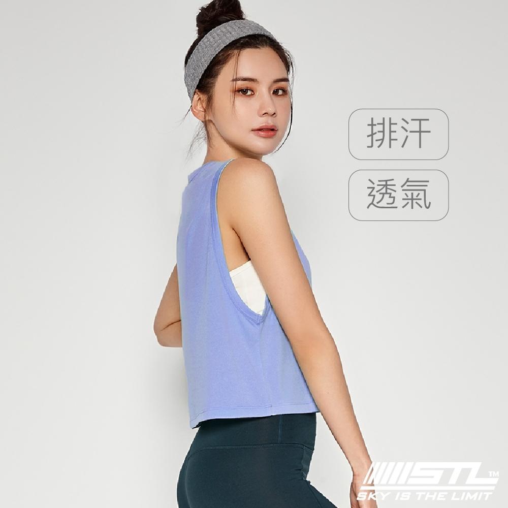 STL Yoga Fresh Crepe Perfect Tank 韓國 戶外運動機能上衣 快速排汗 無袖背心 比基尼外罩/登山/重訓/瑜珈/路跑 冰湖藍