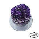 A1寶石  頂級晶鑽烏拉圭紫水晶補運聚寶盆(含開光)