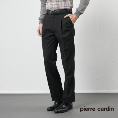 Pierre Cardin皮爾卡登 男裝  彈性打褶休閒長褲-深灰色(5205878-98)