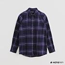 Hang Ten -女裝 - 英倫風配色格紋長袖襯衫 - 紫