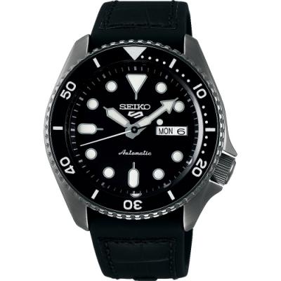 SEIKO 精工 5 Sports 系列黑色機械錶(SRPD65K3)x42.5mm