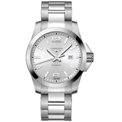 LONGINES浪琴深海征服者潛水石英錶(L37604766)-44mm/銀白