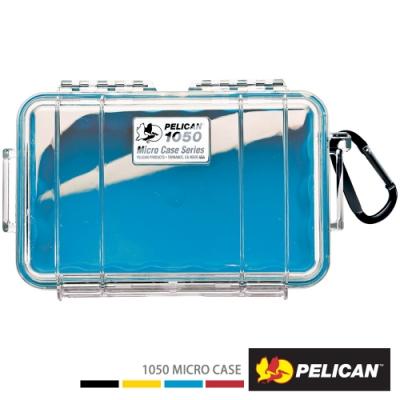 美國 PELICAN 1050 Micro Case 微型防水氣密箱-透明(藍)