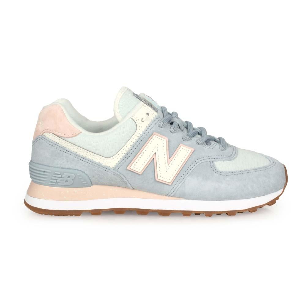NEWBALANCE 女 復古慢跑鞋 粉藍白淺粉