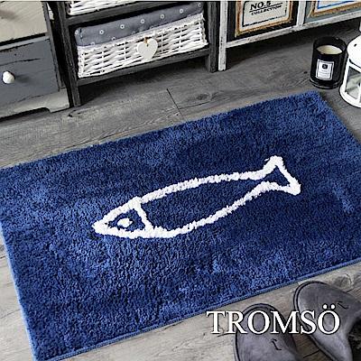 TROMSO 凱薩頂級厚絨毛吸水大地墊-M517北歐小魚藍