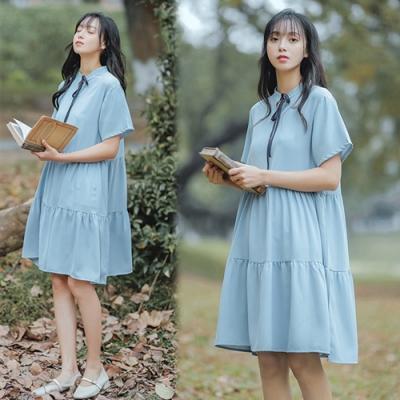 【韓國K.W.】獨家款柔美雪紡洋裝