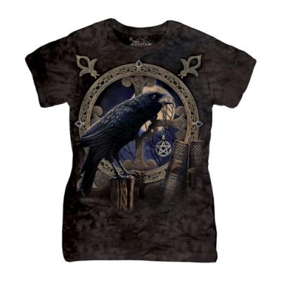 摩達客-美國進口The Mountain 烏鴉護身符 短袖女版T恤