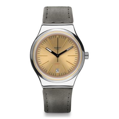 Swatch 金屬 Sistem51機械錶 SISTEM SAND 流沙金-42mm