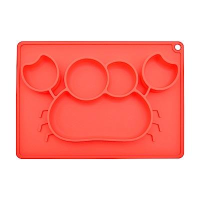 EXPECT兒童矽膠餐盤(螃蟹款)-紅色