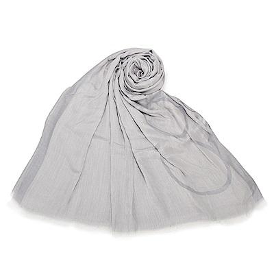 Calvin Klein 經典LOGO絲質披肩圍巾-灰色