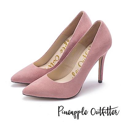 Pineapple Outfitter 性感尤物 素面尖頭高跟鞋-絨粉