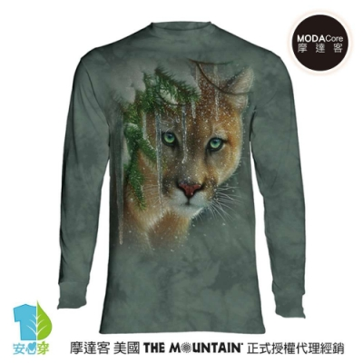 摩達客 美國進口The Mountain  冰雪豹 純棉長袖T恤