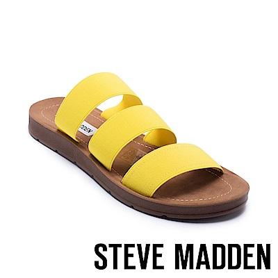 STEVE MADDEN-PASCALE 涼夏束帶平底涼鞋-黃色