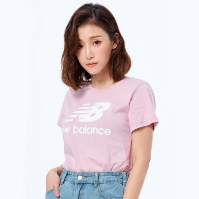 New Balance LOGO短袖上衣 AWT91546OXP 女性 粉紅