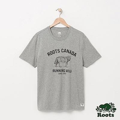 Roots 男裝-野性呼喚短袖T恤-灰色