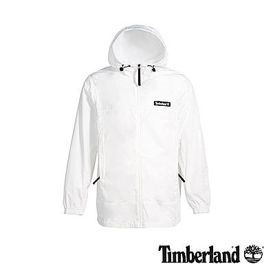Timberland 男款白色輕薄帆布長款外套|A1O8S