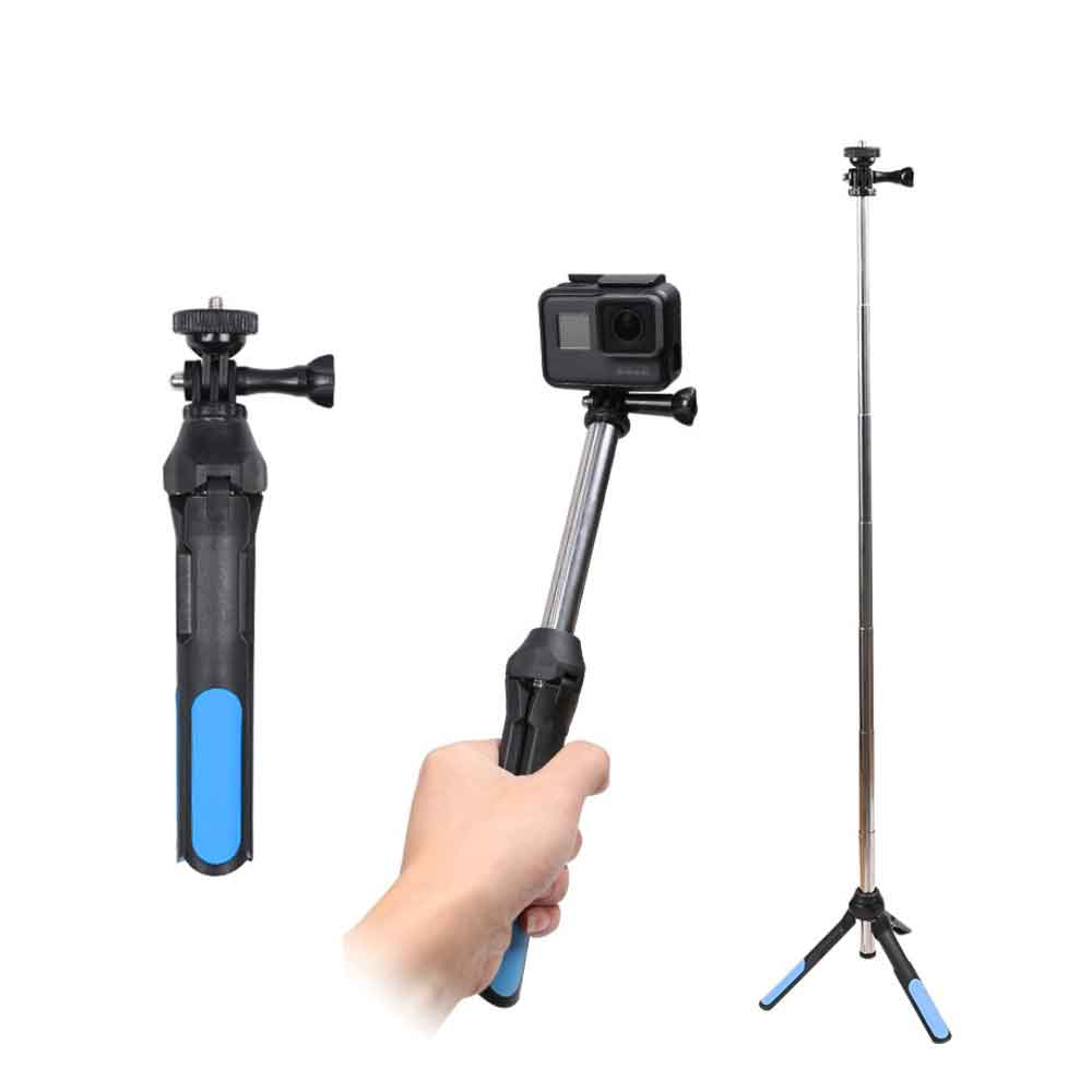 GoPro 手機 相機 直播 多功能伸縮腳架 自拍桿 手持桿