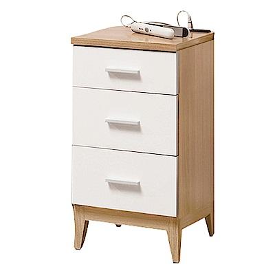 文創集 帕德時尚1.3尺三抽櫃/收納櫃-39.4x40x75.8cm-免組