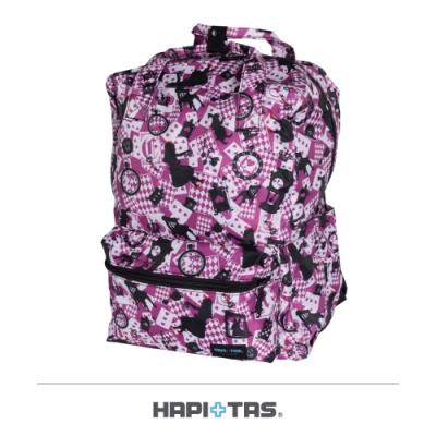 【HAPI+TAS】摺疊手提後背包─新版粉色愛麗絲