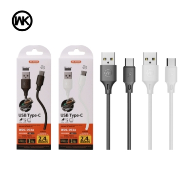 【WK】全速Pro  Type-C 2.4A充電傳輸線WDC-092a