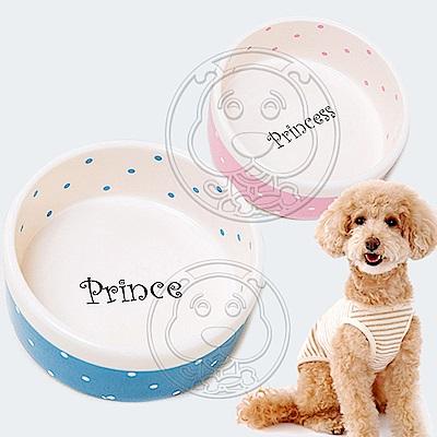 ELITE》犬貓用波點陶瓷寵物食碗-14.5x15x6cm