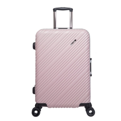 【OUTDOOR】SKYLINE FRAME-24吋旅行箱-粉金銀點紋 OD9077A24PK