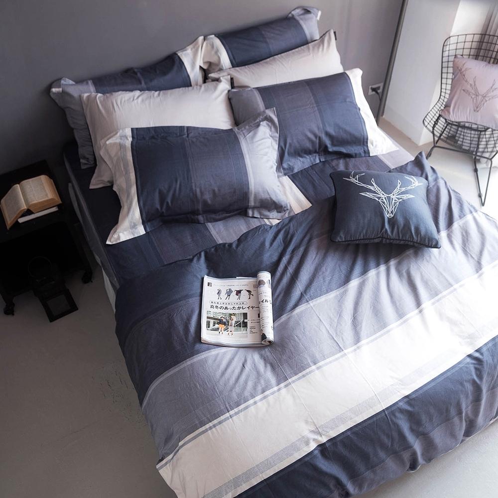 OLIVIA  Clark  標準雙人床包冬夏兩用被套四件組 MOC莫代爾棉 台灣製