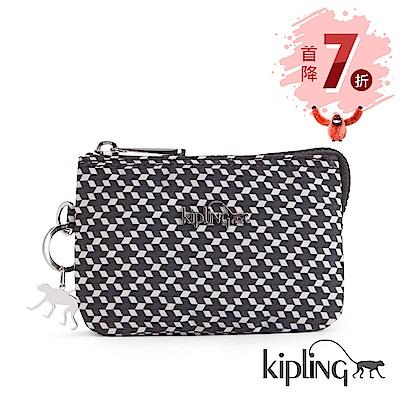 Kipling 零錢包 簡約菱格-小