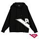 【PONY】長袖大LOGO連帽大學T恤 情侶款 帽T T恤 男女款 黑 product thumbnail 1