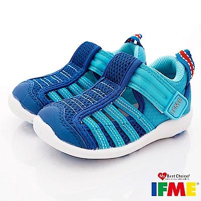 IFME健康機能鞋 輕量透氣排水款 NI00712藍(寶寶段)