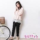 betty's貝蒂思 素色百搭拉鍊口袋長褲(黑色)