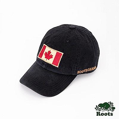 Roots配件- 復古國旗棒球帽-黑