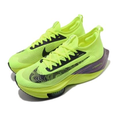 Nike 慢跑鞋 Zoom Alphafly Next 男鞋 氣墊 舒適 避震 路跑 運動 健身 黃 黑 DC5238702