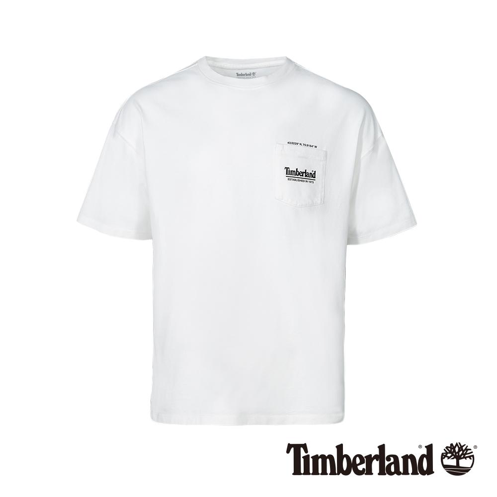 Timberland 男款白色復古防紫外線抗菌寬鬆短袖T恤|A1X66
